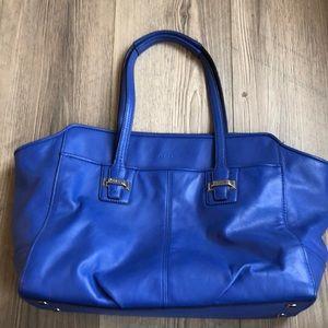 Coach top handle bag colbalt blue